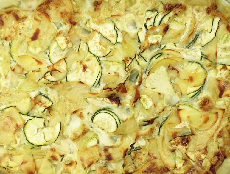 Cremiger Kartoffel-Zucchetti Gratin – Achtung vegan! ;-)