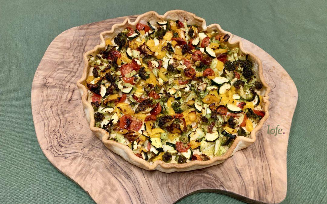 Gemüse-Cashewricotta Kuchen